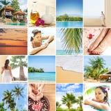 Insieme delle foto circa la Tailandia Concetto di viaggio Immagini Stock Libere da Diritti