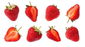 Insieme delle fragole Immagini Stock Libere da Diritti