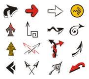 Insieme delle frecce di disegno Fotografia Stock Libera da Diritti
