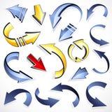 Insieme delle frecce direzionali illustrazione vettoriale