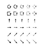 Insieme delle frecce disegnate a mano Fotografia Stock