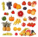 Insieme delle frutta e della verdura Fotografie Stock