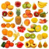 Insieme delle frutta e delle verdure Fotografie Stock Libere da Diritti