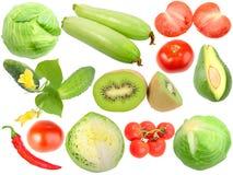 Insieme delle frutta e delle verdure fresche Fotografie Stock Libere da Diritti