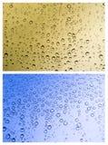 Insieme delle gocce della pioggia immagine stock