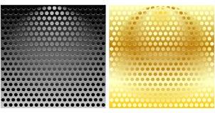 Insieme delle griglie esagonali del metallo Fotografia Stock
