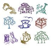 Insieme delle icone. Immagine Stock