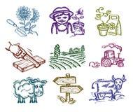 Insieme delle icone. Fotografia Stock