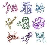 Insieme delle icone. Fotografia Stock Libera da Diritti