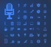 Insieme delle icone Fotografia Stock