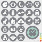 Insieme delle icone Immagini Stock