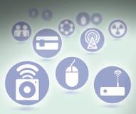 Insieme delle icone Fotografia Stock Libera da Diritti