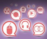 Insieme delle icone Immagini Stock Libere da Diritti