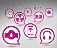 Insieme delle icone Immagine Stock Libera da Diritti