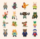 Insieme delle icone animali Fotografia Stock