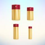 Insieme delle icone colorate della batteria di vettore Fotografia Stock