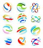 Insieme delle icone colorate delle frecce Vettore Fotografie Stock