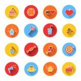 Insieme delle icone colorate per il San Valentino Immagine Stock Libera da Diritti