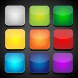 Insieme delle icone dei apps di colore - fondo Immagini Stock Libere da Diritti