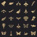 Insieme delle icone dei gallinacei, stile semplice illustrazione vettoriale
