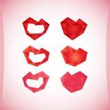 Insieme delle icone del biglietto di S. Valentino, elementi di progettazione Fotografia Stock
