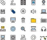 Insieme delle icone del calcolatore icons illustrazione di stock
