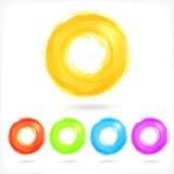 Insieme delle icone del cerchio dell'estratto di affari. Immagini Stock