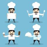 Insieme delle icone del cuoco unico Fotografie Stock Libere da Diritti