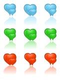 Insieme delle icone del cuore. Fotografia Stock Libera da Diritti