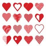 Insieme delle icone del cuore Immagini Stock Libere da Diritti