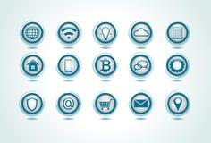 Insieme delle icone del Internet illustrazione vettoriale