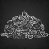 Insieme delle icone del ristorante Immagini Stock Libere da Diritti