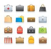 Insieme delle icone del sacchetto Immagine Stock