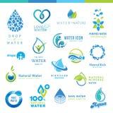 Insieme delle icone dell'acqua Fotografia Stock Libera da Diritti