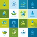 Insieme delle icone dell'acqua di vettore Fotografia Stock Libera da Diritti