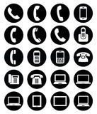 Insieme delle icone dell'aggeggio Fotografie Stock Libere da Diritti