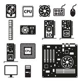 Insieme delle icone dell'hardware illustrazione vettoriale
