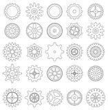 Insieme delle icone dell'ingranaggio illustrazione vettoriale