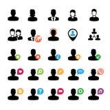 Insieme delle icone dell'utente Fotografia Stock