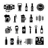 Insieme delle icone della birra Immagine Stock