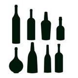 Insieme delle icone della bottiglia Fotografie Stock