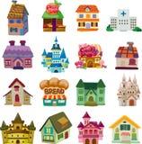 Insieme delle icone della casa Immagini Stock Libere da Diritti