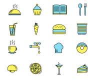 Insieme delle icone della cucina e di cottura Vettore Fotografia Stock Libera da Diritti