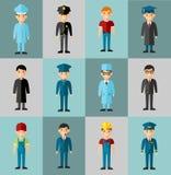 Insieme delle icone della gente Fotografie Stock Libere da Diritti