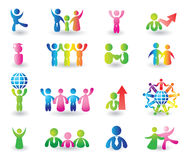 Insieme delle icone della gente Fotografie Stock