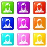 Insieme delle icone 9 della gestione di ora Immagini Stock Libere da Diritti