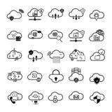 Insieme delle icone della nuvola Fotografia Stock Libera da Diritti
