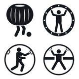 Insieme delle icone della palla di Zorb, stile semplice illustrazione vettoriale