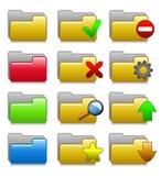 Insieme delle icone delle cartelle Immagini Stock