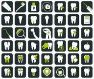 Insieme delle icone dentali Fotografia Stock